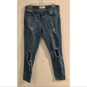 Distressed Medium/Light Wash Skinny Jeans